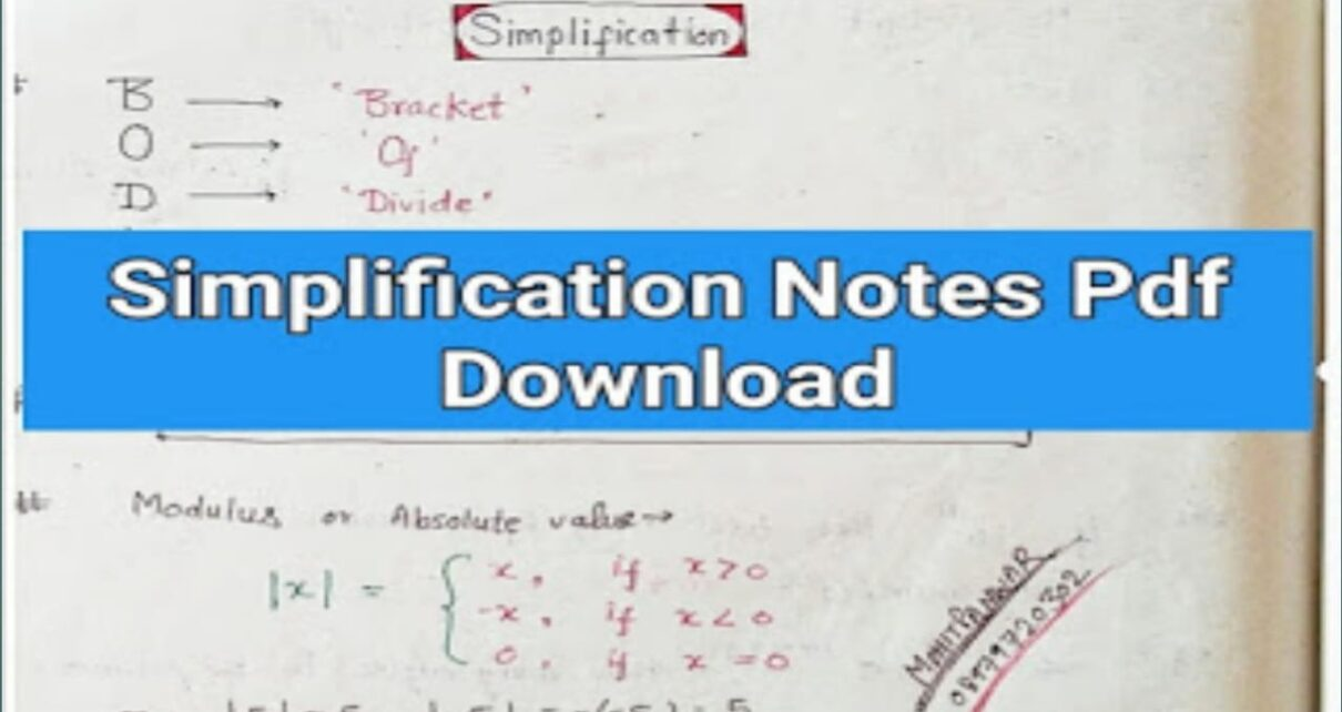 simplification notes
