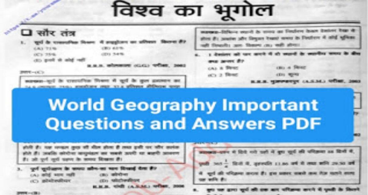 world geography